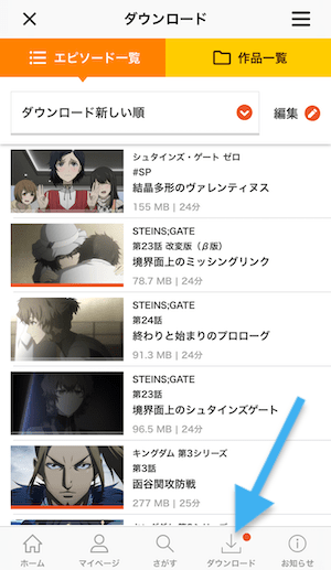 dアニメストア ダウンロード10