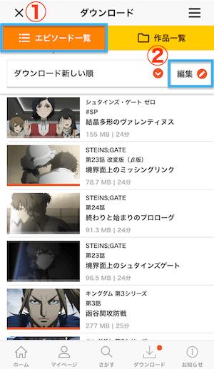 dアニメストア ダウンロード13